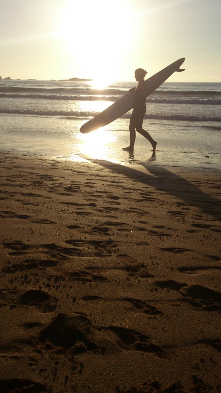 surf en playa de verdicio