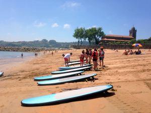 paddle surf Luanco en Hotel La LLosa de Fombona